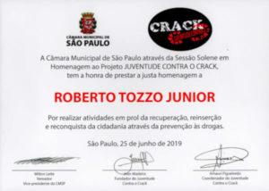 Certificado Juventude Contra o Crack TOZZO